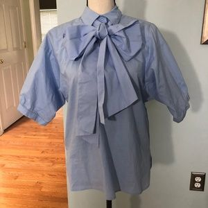 NWOT OH SO CHIC! Bow Front Blouse!